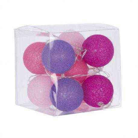 guirnalda bolas rosa