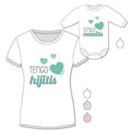pack camiseta body mama tengo mamitis tengo hijitis