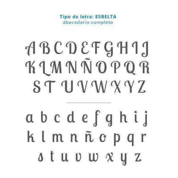 Tipografía Esbelta