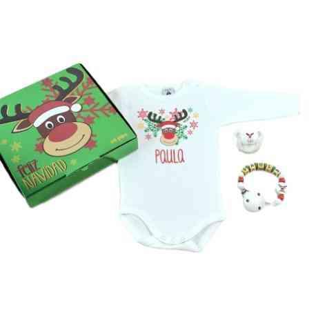 cajita bebe regalo reno navidad personalizado