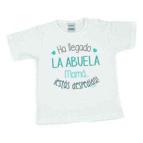 camiseta bebe mama estas despedida divertida