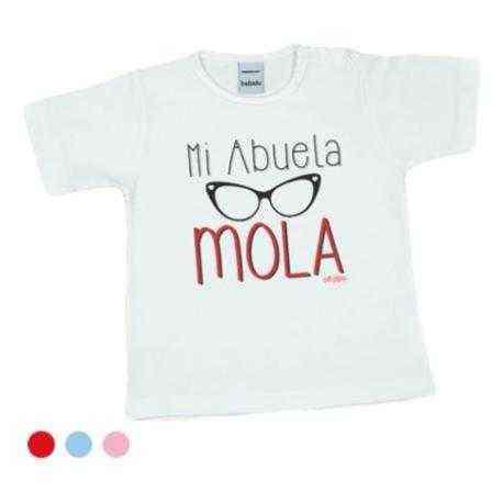 camiseta bebe abuela divertida