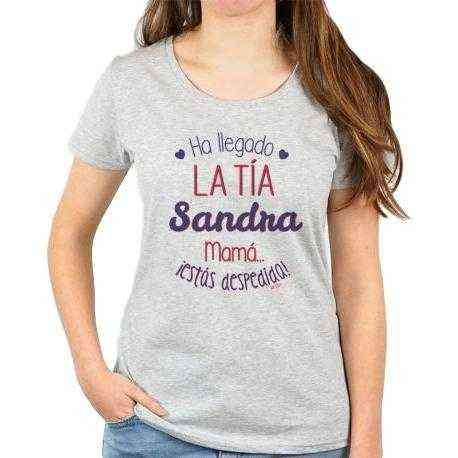 camiseta ha llegado la tia personalizada