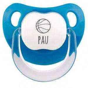 chupete pelota baloncesto personalizado nombre bebe