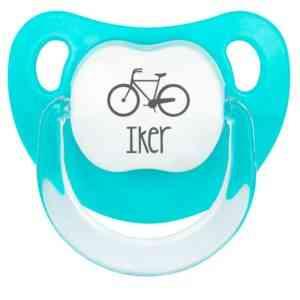 chupete bici personalizado nombre bebe