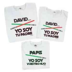 pack 3 camisetas divertidas guerra de las galaxias