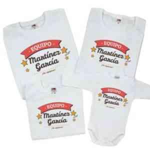 pack de camisetas personalizadas para toda la familia