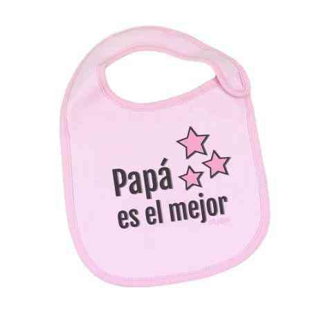 babero rosa papa
