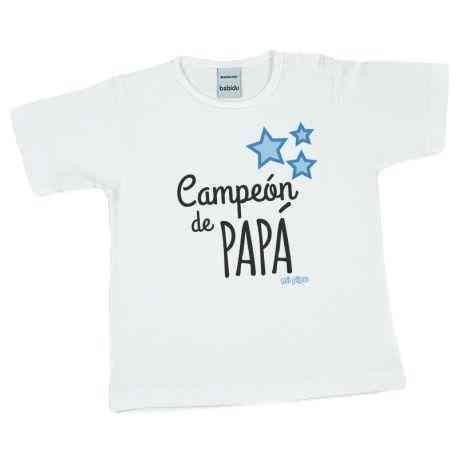 camiseta bebe campeon de papa