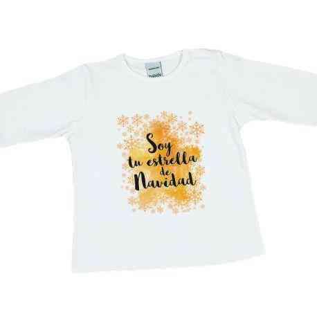 camiseta estrella de navidad