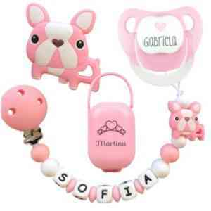chupetero bulldog rosa