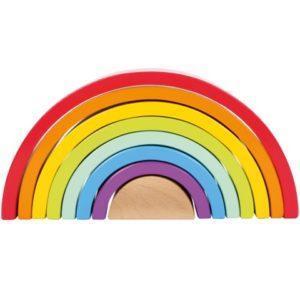 arcoíris waldorf madera
