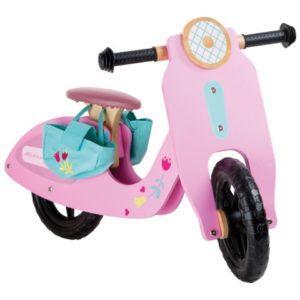 bicicleta entrenamiento rosa