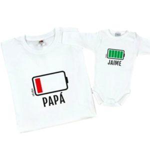 pack camisetas papá batería