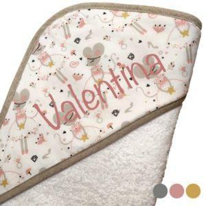capa baño bebe personalizada