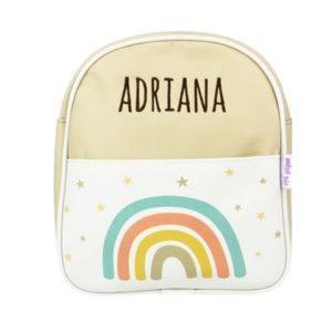 mochila arcoíris personalizada