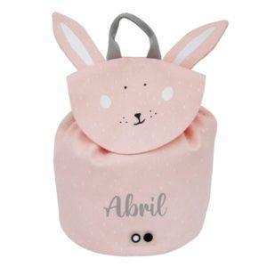 mochila conejito rosa